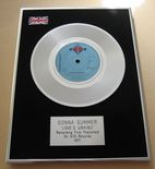 DONNA SUMMER - LOVE'S UNKIND PLATINUM Single Presentation DISC